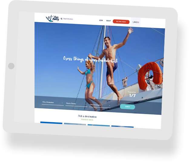 Trave Activity Website Builder